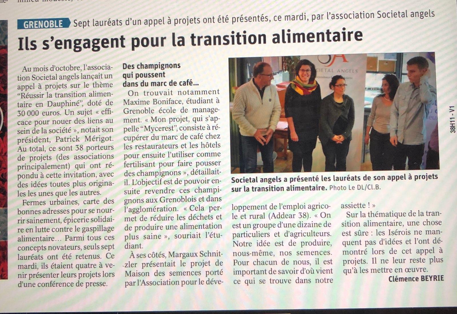 les lauréats de l'appel à idées Transition alimentaire en Dauphiné